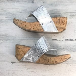 Soda silver bling wedge size 7